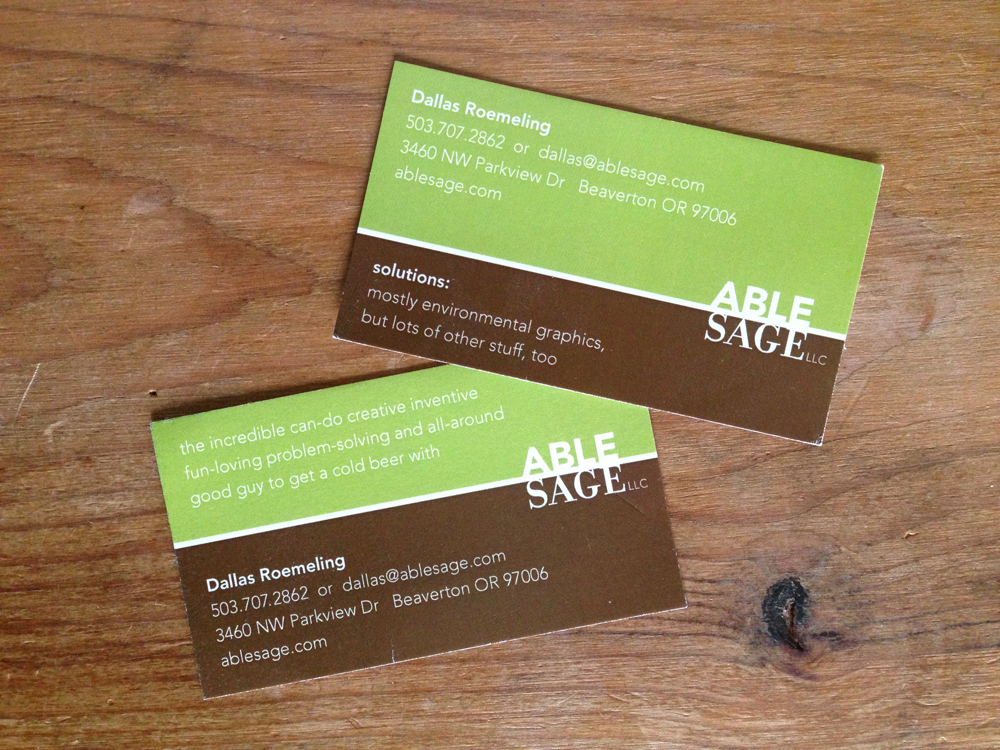 Able Sage and Dallas Roemeling brand identity